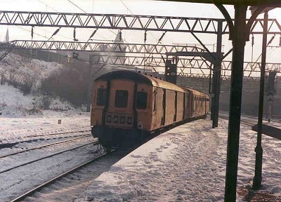 Class 128 in the snow