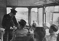 Issuing tickets on railbus