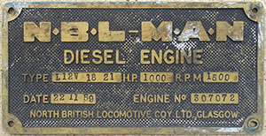 Blue Pullman engine plate