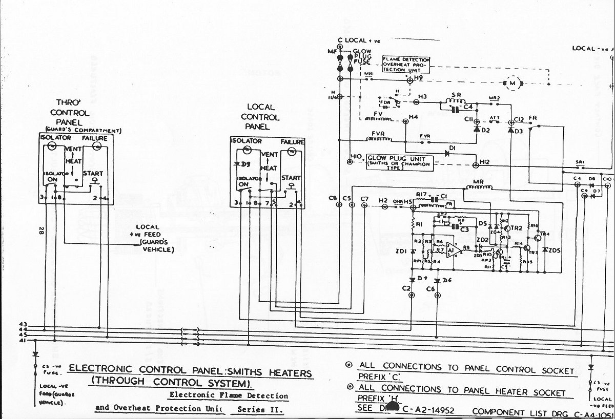 Heaters Heater Control Unit Wiring Diagram Schematic January 1992 For 101s But Applicable To Others Cab Box Courtesy Of John Joyce Test Easy Make And Very Useful In