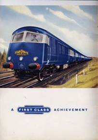 Blue Pullman brochure
